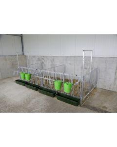 Instalare modulara a gardului pentru vitei in grajd