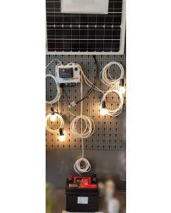 sistem de iluminare cu panou solar si baterie